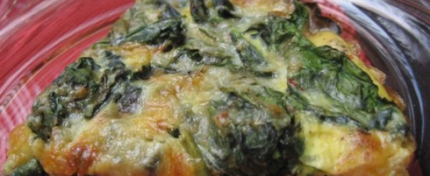 Dukan Diet Recipe Spinach and Mushroom Quiche