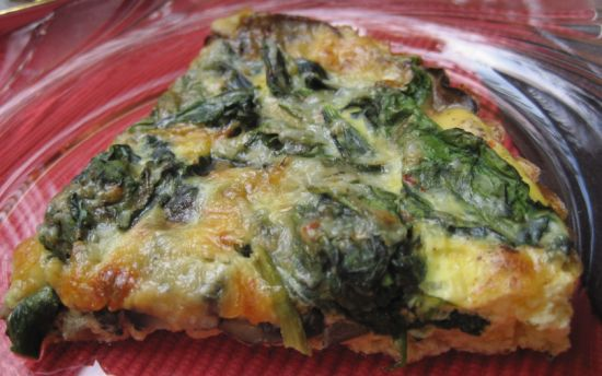 Spinach and Mushroom Quiche -