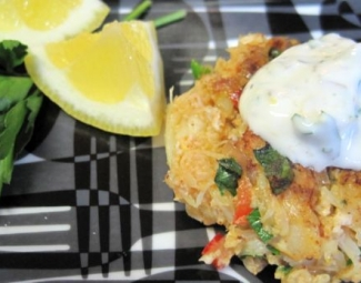Dukan Diet Recipe Crab Cakes with Parsley and Caper Sauce