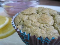 Lemon Blueberry Oat Bran Muffin