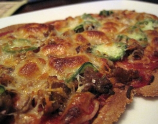 Dukan Diet Recipe Pepperoni and Sausage Oat Bran Pizza