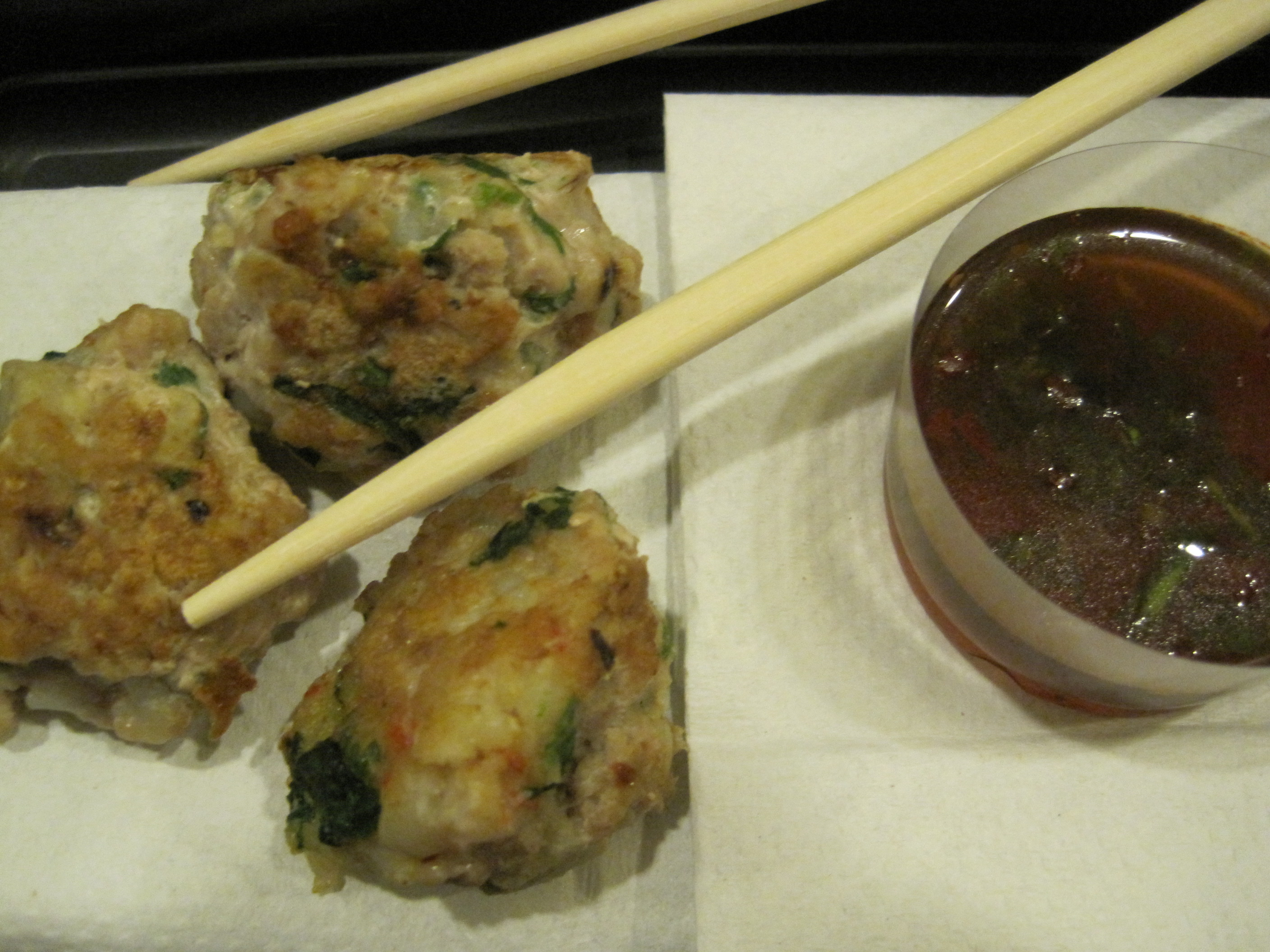 Shrimp and Pork Meatballs with Dipping Sauce -