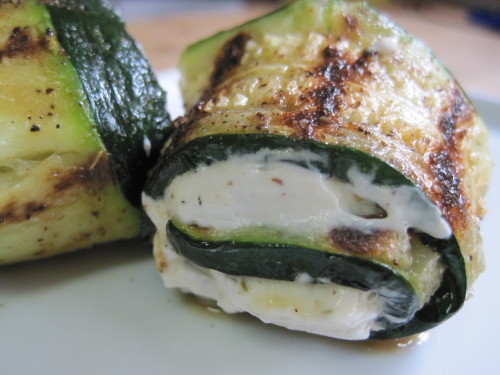 Cheese Stuffed Zucchini Rollups