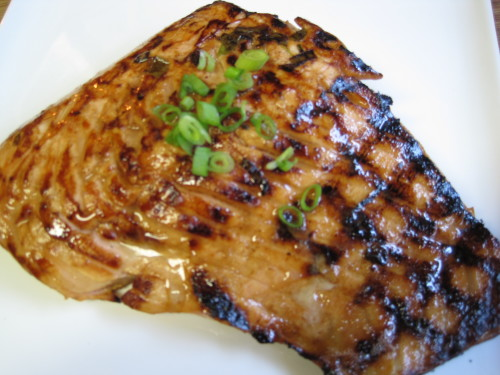 Grilled Bourbon & Lemon Salmon