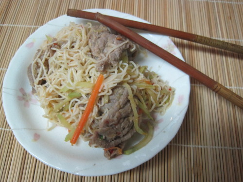 Ginger Pork Stir-Fry Noodles