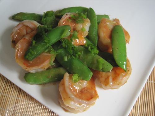 Shrimp with Sugar Snap Peas