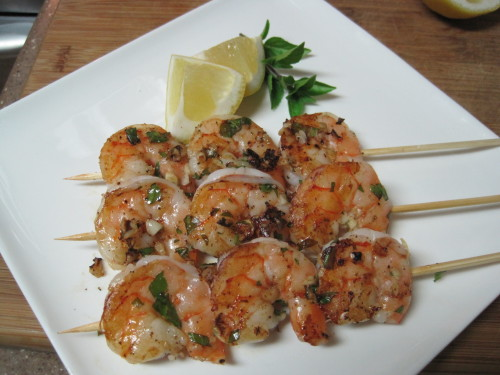 Basil and Garlic Shrimp