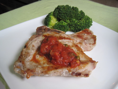 Pork Chops with Tomato Wine Sauce
