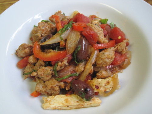 Chicken, Sausage, Peppers and Onions
