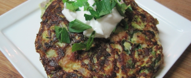 Zucchini and Chicken Sausage Pancakes