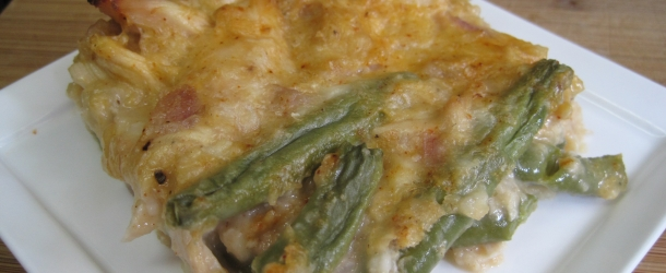 Chicken, Green Beans and Mushroom Bake
