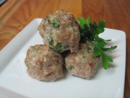 Pesto Turkey Meatballs