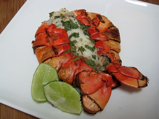 Cilantro-Lime Lobster Tails