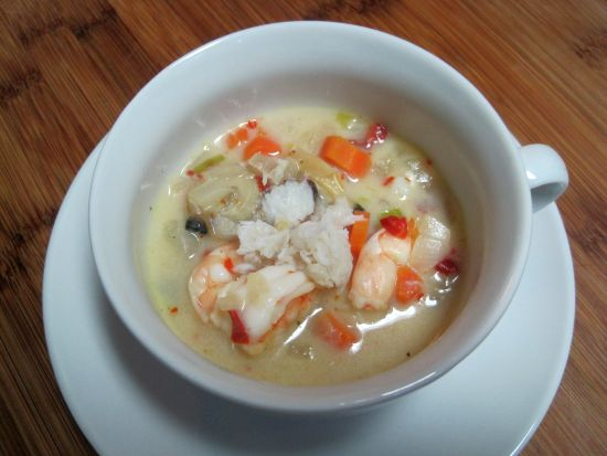 Crab, Shrimp and Clam Chowder