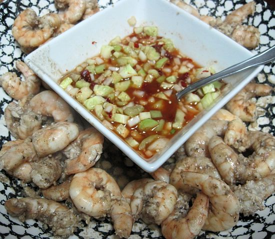 Shrimp with Chipotle Tomatillo Salsa