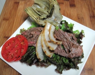 Warm Flank Steak Salad