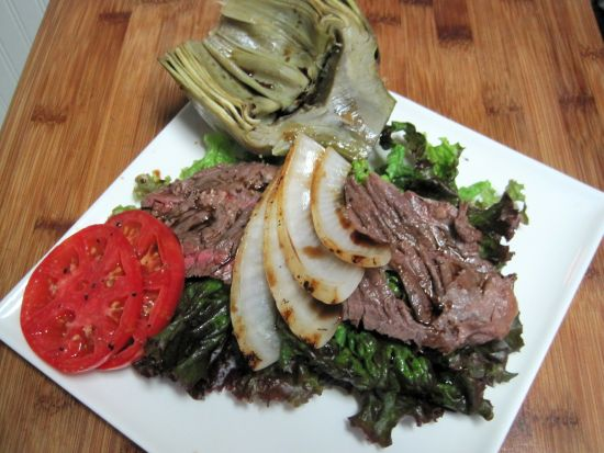 dukan diet recipe Warm Flank Steak Salad