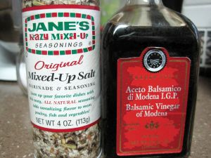 Jane's Crazy Mixed Up Salt and Aged Balsamic Vinegar