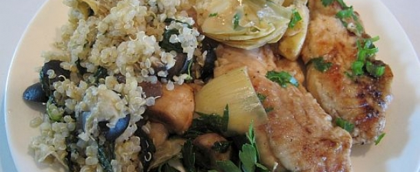 Chicken with Mushrooms and Artichoke Hearts