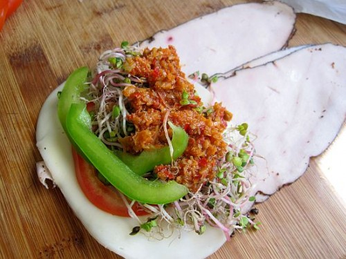 Dukan Diet Recipe Spicy Turkey Wrap
