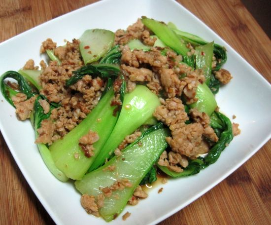 Chicken Sausage and Baby Bok Choy -