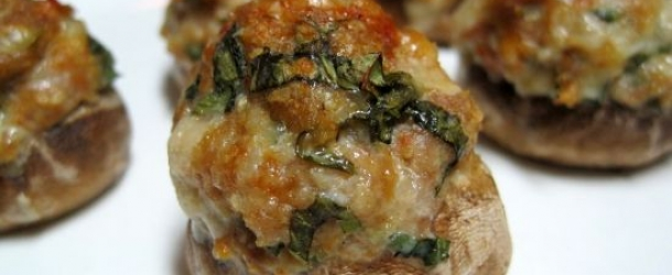 Meatball Stuffed Mushrooms