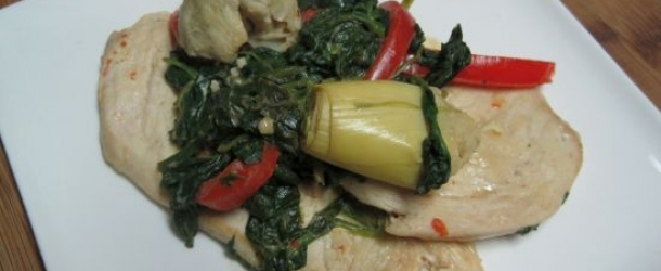 Chicken with Creamy Spinach