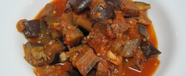 Dukan Diet Recipe Garlic Beef and Eggplant