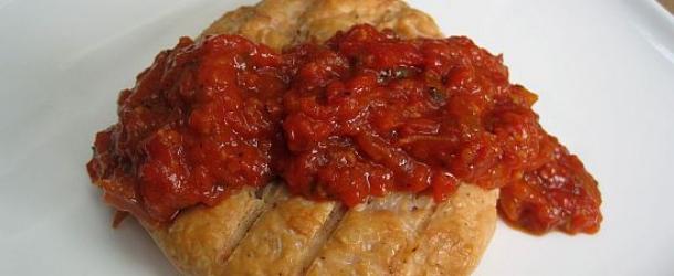 Dukan Diet Recipe Salmon Patties with Red Pepper Sauce