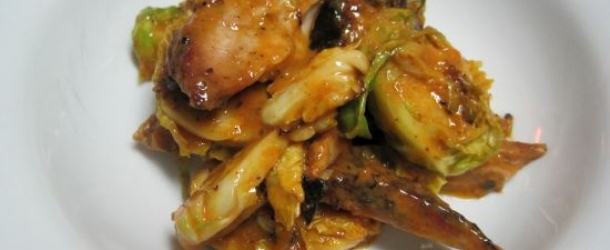 Dukan Diet Recipe Curry Chicken and Brussels Sprouts