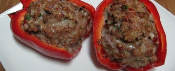 Dukan Diet Recipe Turkey Sausage Stuffed Peppers