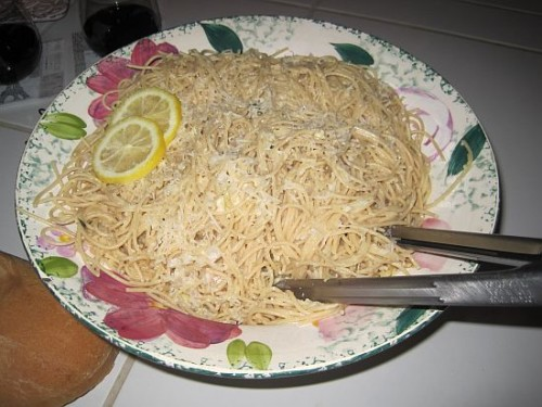 Lemon Cream Spaghetti