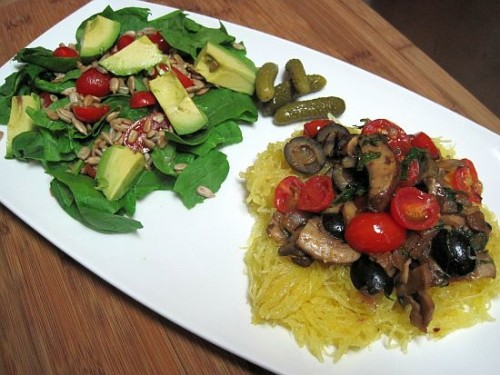 dukan diet recipe Spaghetti and Salad