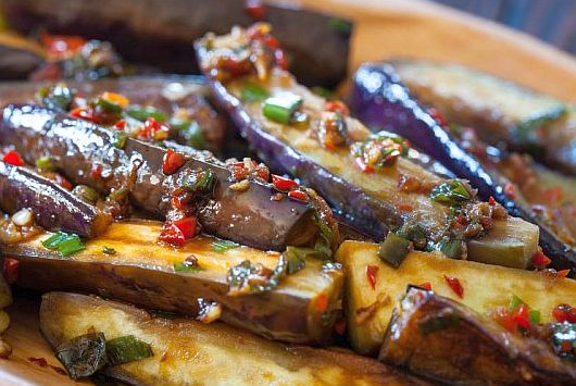 Dukan Diet Recipe Hot and Sour Japanese Eggplant