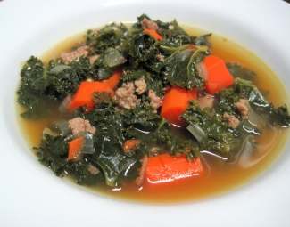Dukan Diet Recipe Sausage and Kale Soup