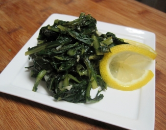 Dukan Diet Recipe Sauteed Dandelion Greens