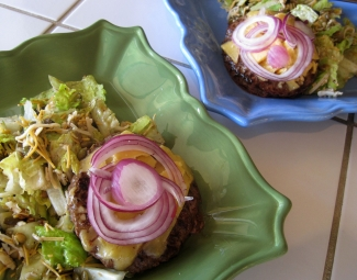 dukan diet recipe Onion Cheeseburger Salad