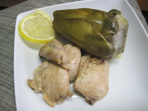 Dukan Diet Recipe Lemon, Chicken and Artichokes