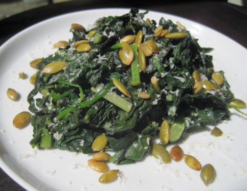 Dukan Diet Recipe Spinach and Kale Sidedish